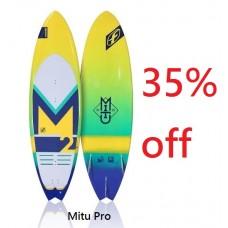 Surfboard: 2017 Mitu Pro + Plastic Fins (-35%)